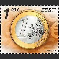 Монета в 1 евро