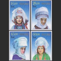 Национальные женские головные уборы. Элечек