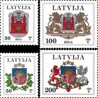 Гербы городов Латвии