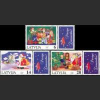 Рождество (3 марки с зелеными ИЛИ синими купонами)