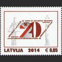 20-летие дипломатических отношений Латвии с Грузией